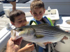 Kids Striped Bass fishing